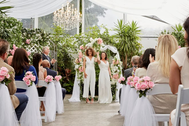 """The Hallmark Channel will showcase its first ever same-sex union in an upcoming movie premiering """"Wedding Every Weekend."""""""