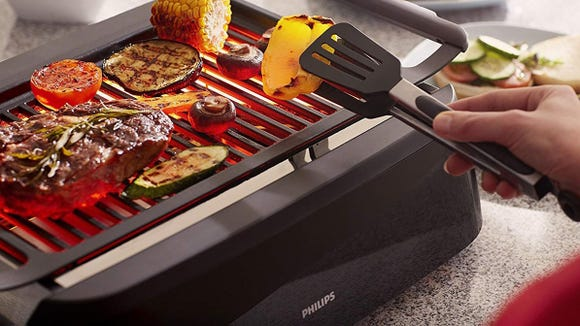 The Philips lets you grill year-round.