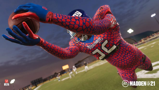 """A scene from """"The Yard"""" mode in Madden NFL 21."""