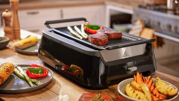 This indoor grill really is smokeless.