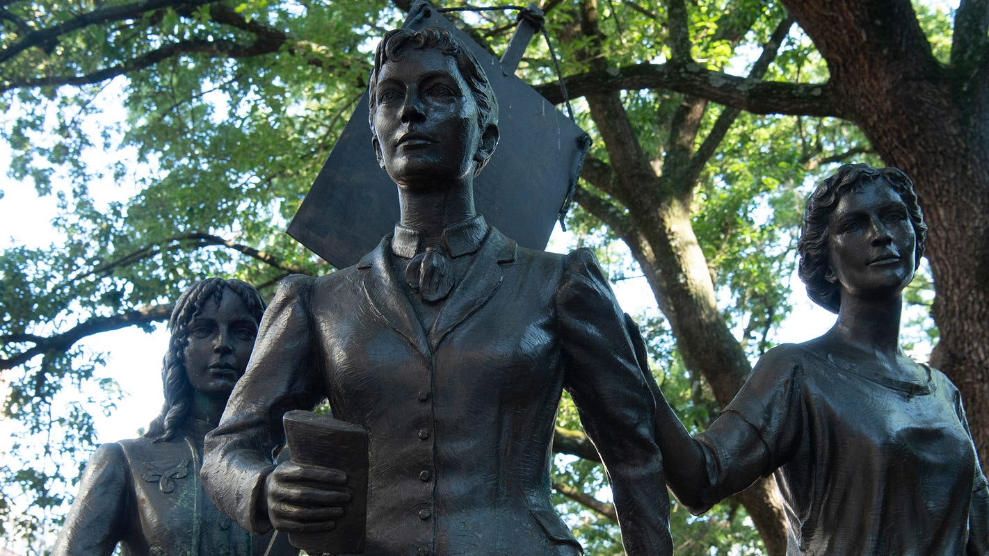 Statues bring suffrage history to you
