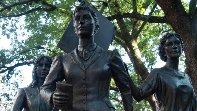 This statue honors the women of the state who ratified the 19th Amendment.