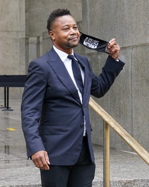 Cuba Gooding Jr. leaves court in New York last week during a hearing in his sexual misconduct case.