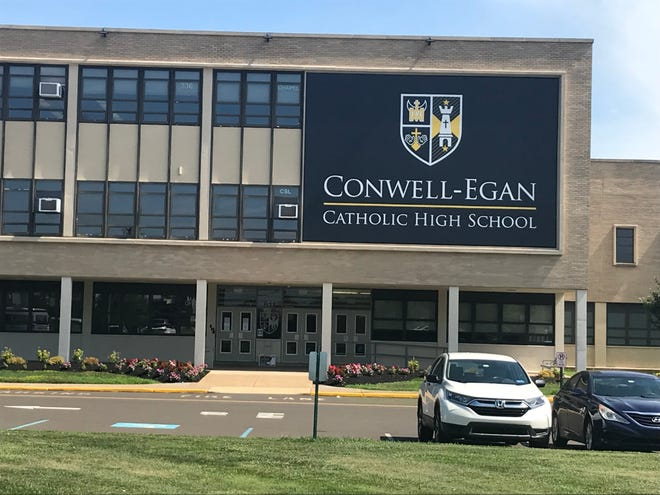 Like other Philadelphia Archdiocese high schools, Conwell-Egan in Bristol Township will be offering full-time virtual and a hybrid model of instruction. [photo: CHRIS ENGLISH/STAFF PHOTOJOURNALIST]