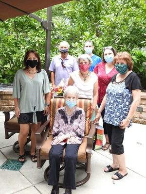Madeline Winegrad celebrated her 100th birthday on Saturday, August 8, surrounded by family. [CONTRIBUTED]