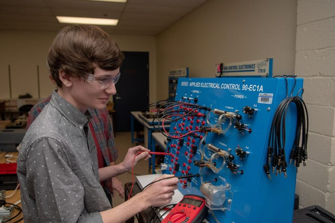 "Bucks County Community College was awarded a $420,000 CARES Act grant to help residents get free ""Speed to Skill"" job training, including electro-mechanical industrial maintenance training, pictured here."