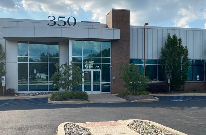 A rendering shows the entrance to an office space in one of Nessel Development's South Jersey buildings.