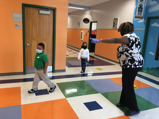 Students recently returned to Hardeeville Elementary School for state-required assessments before the start of the school year.