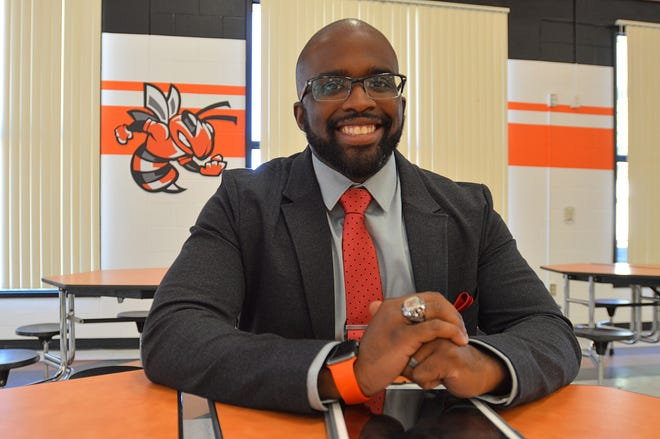 Leesburg High School Principal Michael Randolph poses for a photo at the school on Thursday, Jan. 18, 2018. [Whitney Lehnecker/Daily Commercial]
