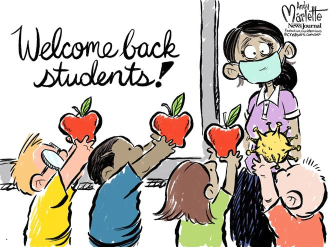 Trump! Biden! Kamala! Cartoons of the Week!  2020 08 13 Back To School