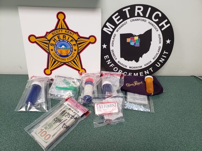 Drugs and cash were seized Thursday during the arrest of Charles Irwin Jr. in Bucyrus.