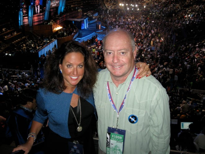 Don and Jennifer Mooney at the 2008 Democratic National Convention.