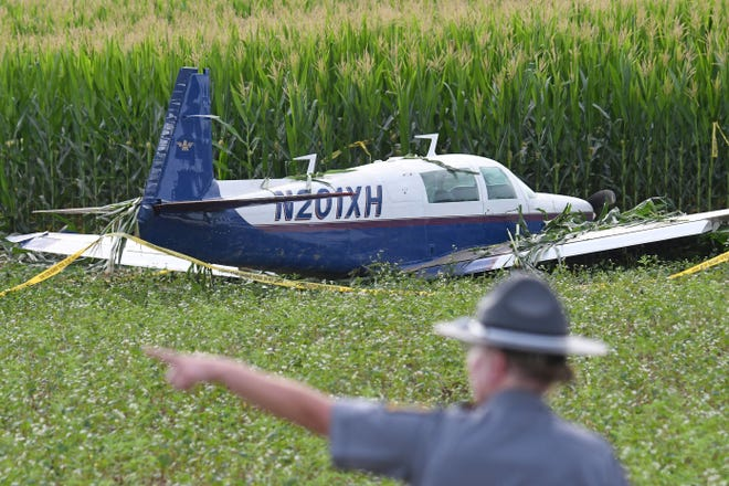 The Ohio State Highway Patrol wase investigating a plane crash that occurred Thursday at 7:58 p.m. near Huntsman and Algire Roads in Perry Township, south of Lexington. The pilot and sole passenger escaped without injury.