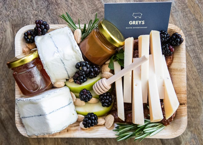 Greys date night cheese board in Eads, Tenn., on Thursday, August 13, 2020.