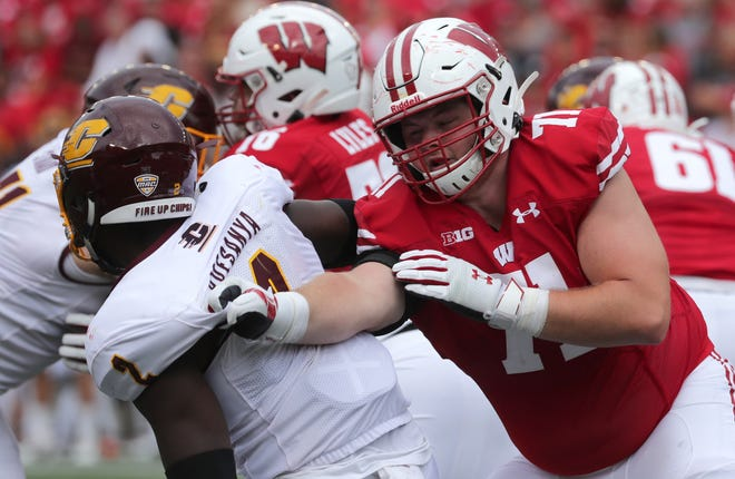 Wisconsin offensive tackle Cole Van Lanen said he was very upset when he found out the Big Ten was postponing the football season until the spring semester.