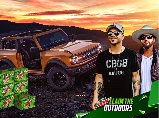 """Country music duo LOCASH will present the grand prize  of Mountain Dew's latest initiative to encourage southerners to """"Claim the Outdoors."""""""