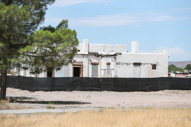 The old Las Cruces Country Club built by Henry Trost near the new hospital, Three Crosses Regional Hospital, is pictured in Las Cruces on Friday, August 14, 2020.