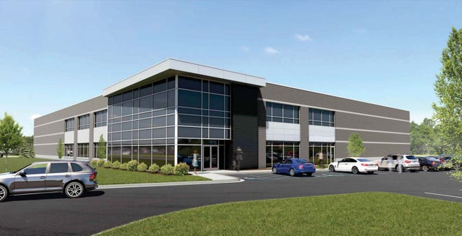 A rendering of the proposed building planned for a vacant parcel off Hudson Drive in the Beck North Corporate Park in Novi.