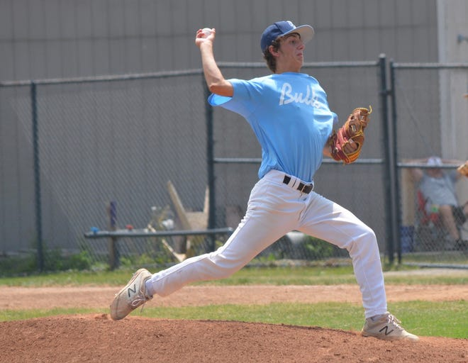 Marine City senior pitcher Riley Cass threw a no-hitter for the Novi-based Michigan Bulls travel baseball team during a game earlier this summer.