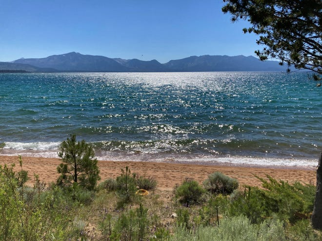 Lake Tahoe is shown in JuLy 2020.