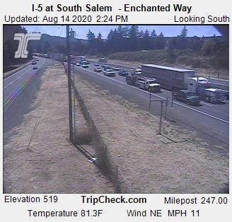Delays on Interstate 5 in South Salem.
