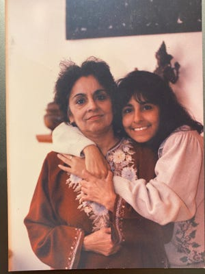 Neera Tanden with her mother, Maya, in Bedford, Massachusetts, in 1986.