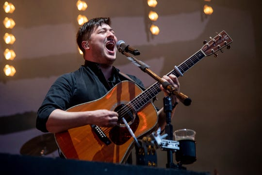 Marcus Mumford of Grammy-winning folk-rock band Mumford & Sons.
