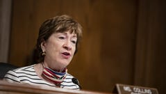 Chairwoman Senator Susan Collins (R-ME) speaks during a Senate Special Committee of Aging hearing on The COVID-19 Pandemic and Seniors: A Look at Racial Health Disparities at the US Capitol on July 21, 2020 in Washington, DC.