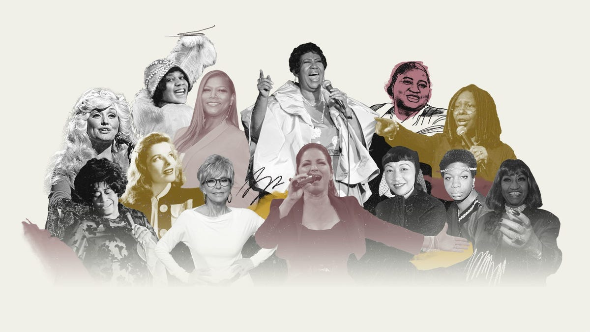 Singers Dolly Parton, Aretha Franklin and Queen Latifah among Women of the Century for entertainment