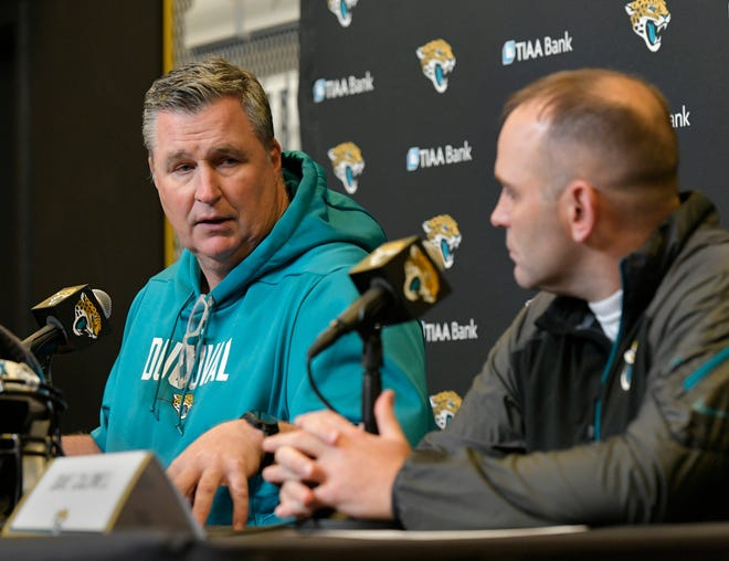 Jaguars coach Doug Marrone and general manager Dave Caldwell both appear to be on the hot seat after a 1-6 start. Will Dickey/Florida Times-Union
