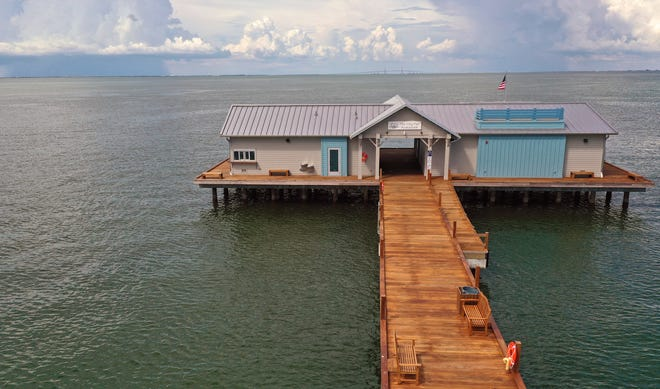 The new Anna Maria City Pier is still looking for a tenant for a restaurant at the end of the pier. Photographed Thursday August 13, 2020.