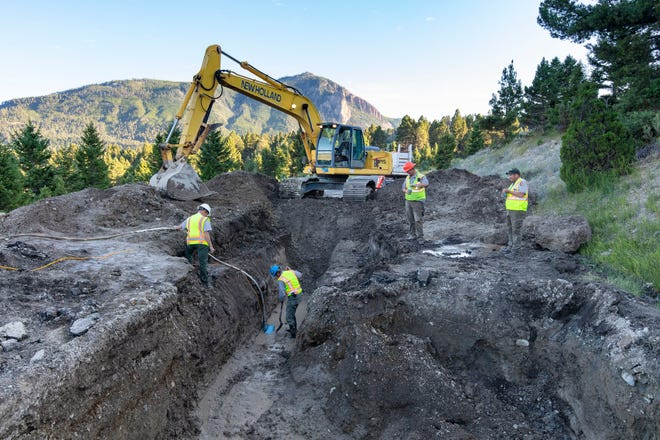 Yellowstone National Park Service crews worked through the night to temporarily repair a major water line break.