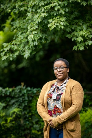 """Author and publisher, Olivia Raymond, 23, will soon be publishing """"Dominion,"""" a series of Pan-African anthologies by Black writers around the world, through her company Aurelia Leo. Raymond has a master's in history and is currently in the Pan African Studies PhD program at UofL. Aug. 14, 2020"""