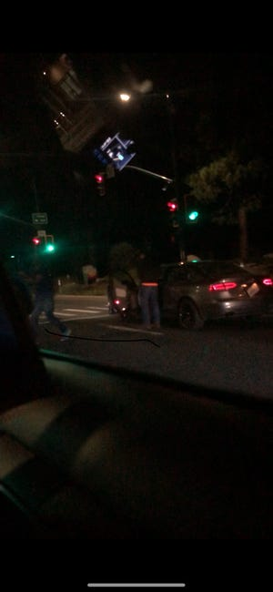 A photo of the suspect and his vehicle in Friday night's road rage in South Tahoe