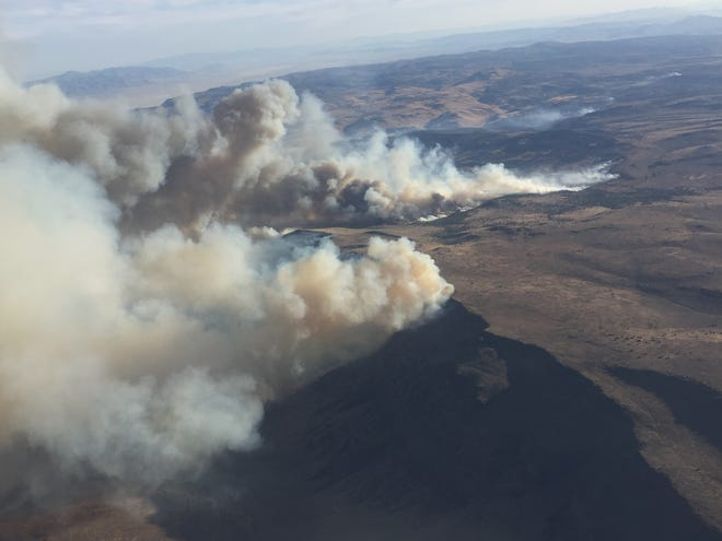 The Poodle Fire is burning northwest of Gerlach.