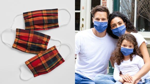 These masks from Gap Factory have us thinking of autumn—especially in the plaid prints.