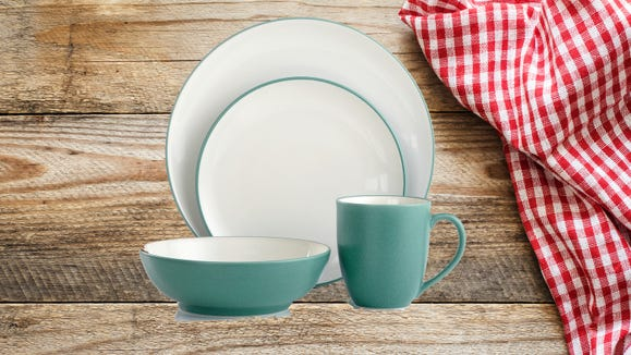 These stoneware sets will be waiting for you at the dinner table.