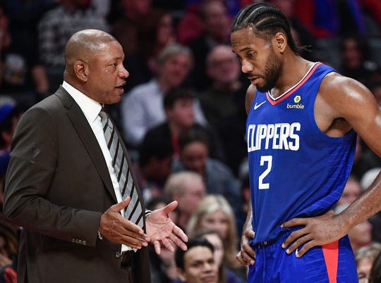Kawhi Leonard, Doc Rivers and the Clippers open the playoff Monday against the Mavericks.