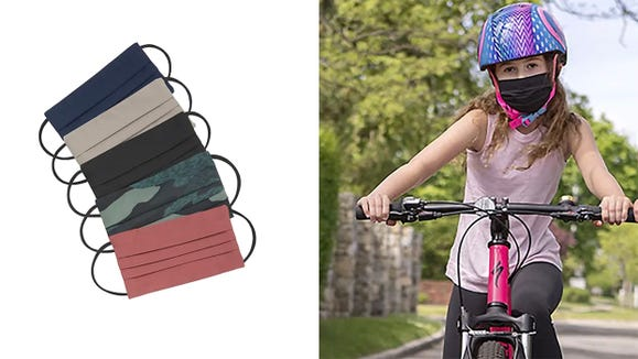 These Athleta masks are sporty and are fun for the child on the go.