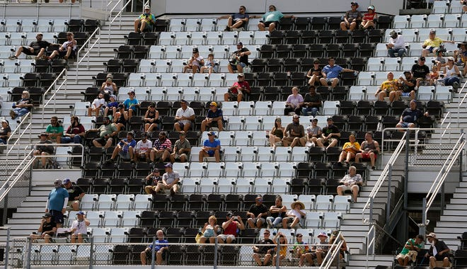 The Speedway will use the same distancing strategy it used for fan seating at the recent road-course races.