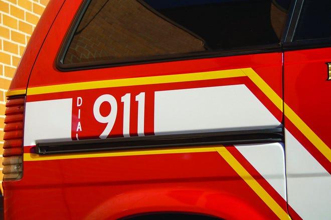 A 9-1-1 emergency vehicle.