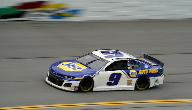 The No. 9 Chevy of Chase Elliott was out front at the very end, exactly when it counted.
