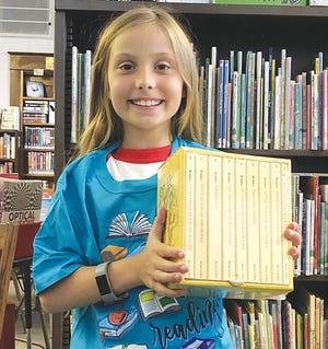 Kennedy Butler was the top reader of Macksville Library's 2020 Summer Reading Program.