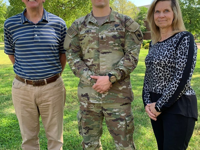 Arkansas State University-Mountain Home will begin offering military science and leadership classes beginning this year. Shown above are (from left) ASU-MH Chancellor Robin Myers, 1st Lt. Mason Jones and Tamera Daniel, ASU-MH Provost and Vice Chancellor for Academic Affairs.