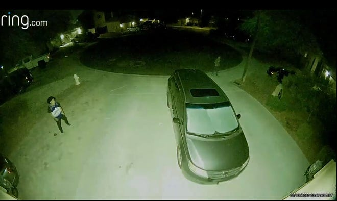 Buckeye police are looking for two people suspected of shooting at people and burglarizing multiple vehicles on Aug. 13, 2020.