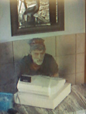 A suspect described as a white male with a slender build, gray beard and mustache broke into the Pelican Restaurant in Marysville early Sunday.