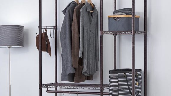Double your closet storage with this garment rack.