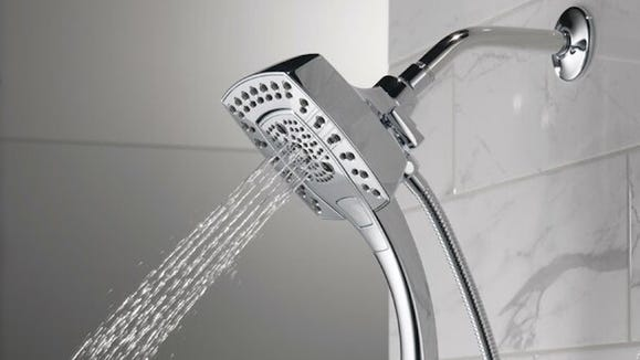 Level up your bathroom with this Delta showerhead.