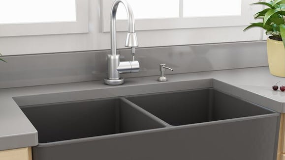 This farmhouse sink is $1,000 off.