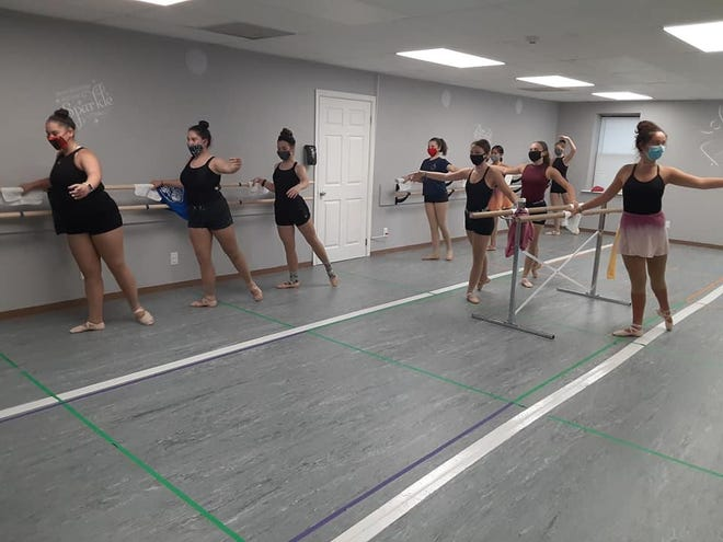 Dancers rehearse in Dance Action of Newtown's new location in Middletown. The studio reopened last week after being closed due to COVID lockdowns.